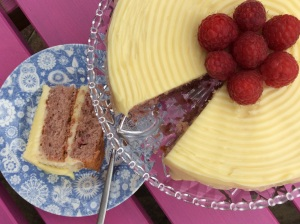 Gluten free Raspberry and Prosecco Layer Cake