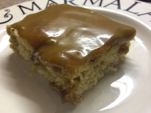 Gluten free Caramel Oat Cake