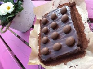 Gluten Free Chocolate Diam Cake Slice