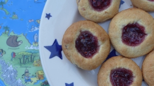GF Almond & Jam Thumbprint Bites