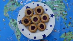 Gluten Free Almond & Jam Bites