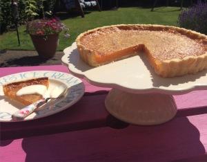 Gluten free treacle tart