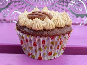 Gluten Free Spiced Coffee and Pecan Cupcake